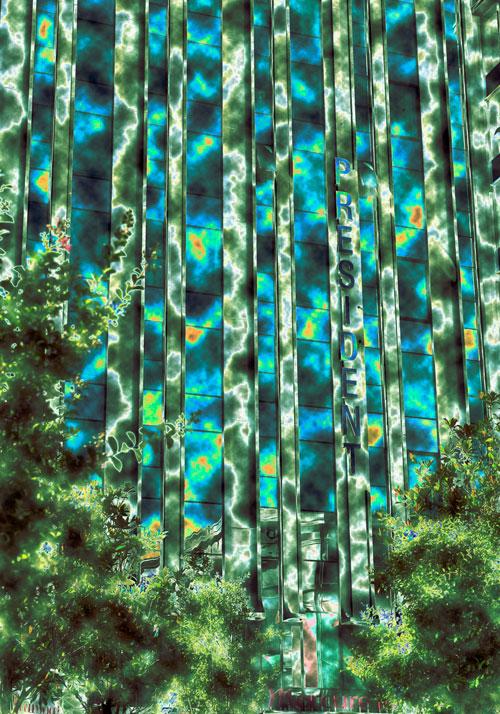 Komposition in Grün