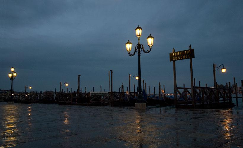 Morgengrauen am Lido, Venedig