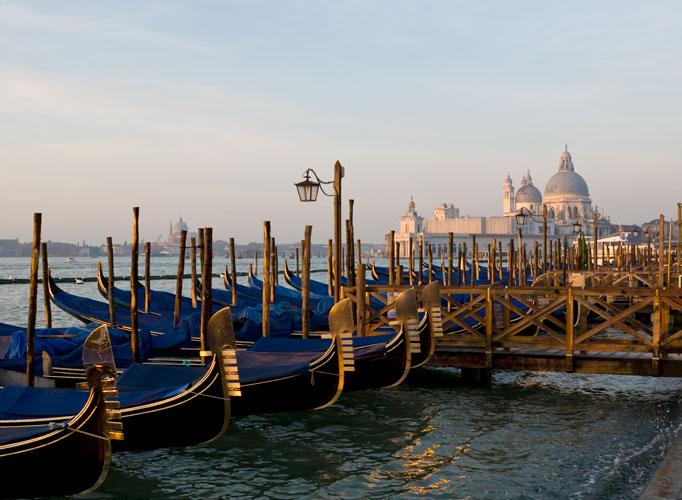 Frühmorgens am Lido, Venedig